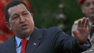 Venezuelan President Hugo Chavez in Caracas, 21 July