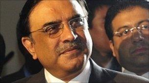 Pakistan's president, Asif Ali Zardari