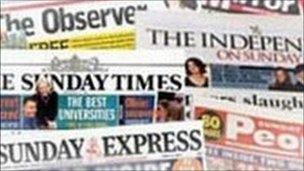 Sunday papers