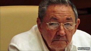 Cuban leader Raul Castro