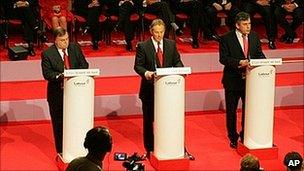 Tony Blair and Gordon Brown during 2005 election campaign