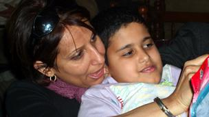 Nahla al-Nadawi and son Aseed (Family photo)