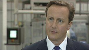 David Cameron visits East End Foods factory in the Black Country
