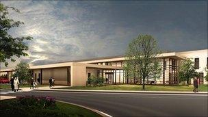 Artist's impression of the new centre