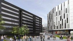 Artist's impression of new Sighthill campus