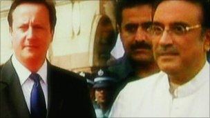 David Cameron and Asif Ali Zardari