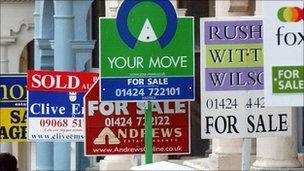 Generic house sale signs