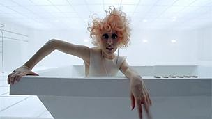 Still image from Lady Gaga's Bad Romance video