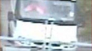 CCTV of suspects' van