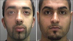 Sukwinder Singh Sanghera and Jasbir Singh Takhar (pic: West Midlands Police)
