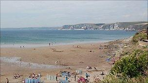 Bigbury-on-Sea beach
