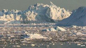 A glacial bay on the western coast of Greenland - 2008 file photo