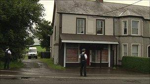 The man was stabbed in an apartment near the main Belfast to Derry road
