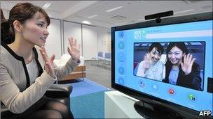 People using Skype