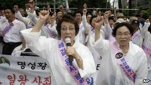 South Korean protesters outside the Japanese embassy, Seoul - 10 August 2010