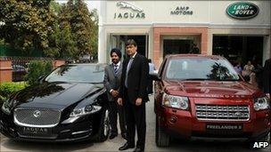 Jaguar Land Rover showroom in New Delhi