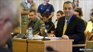 Israeli Defence Minister Ehud Barak gives evidence to the Turkel commission – 10 August 2010