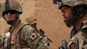 British soldiers involved in current operation Tor Shezada against Afghan insurgents (undated British Ministry of Defence photo)