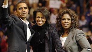 Barack Obama, Michelle Obama and Oprah Winfrey