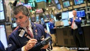 A New York trader (file photo)