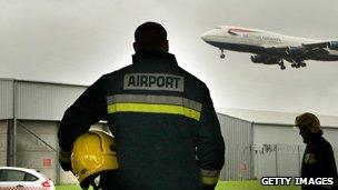 Firefighters at Heathrow
