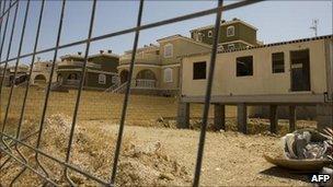 Half-build apartments in Spain, file image