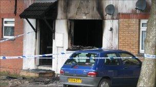 House fire, Vivian Road, Bodmin