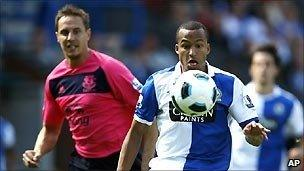Blackburn Rovers v Everton in the opening game of the 2010/11 Premier League