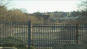 Former gas works in Harrogate