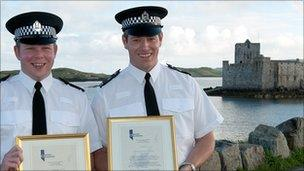 Pc Gallie and Pc McMaster. Image: Northern Constabulary