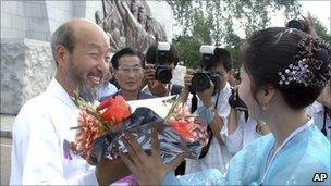 Han Sang-ryol in Pyongyang on 20 August
