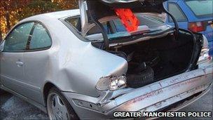 Car involved in a crash scam (2009 file pic)