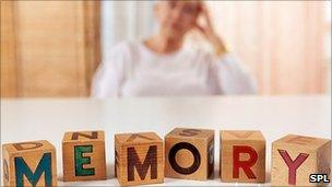 Alzheimer's patient and memory blocks