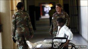 Military medics in Natalspruit hospital