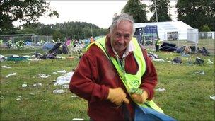 Mike Hampson, from Brewood Rotary Club, who organised the tent collecting effort