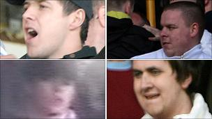 CCTV of wanted fans