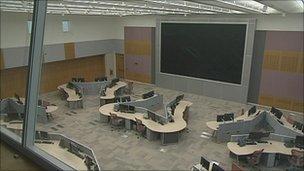 Empty Taunton fire control centre