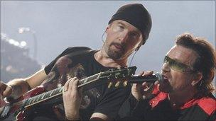 The Edge and Bono