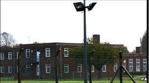 Oakington detention centre in Cambridgeshire