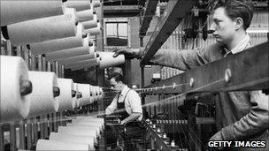 Nottingham lace factory 1959