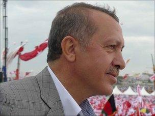 Recep Tayyip Erdogan addresses rally