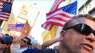 Protest in New York 11 September 2010