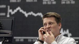 Frankfurt trader (file photo May 2010)