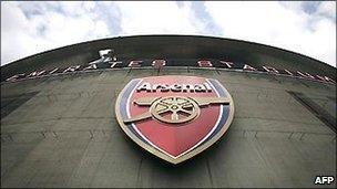 The exterior of Arsenal's Emirates Stadium