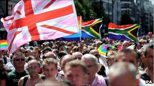 A Gay Pride march in London
