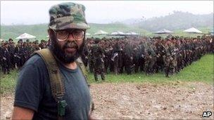 The Farc's current leader - in file photo from 28 April 2000