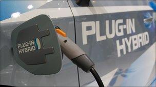 Toyota plug-in hybrid car