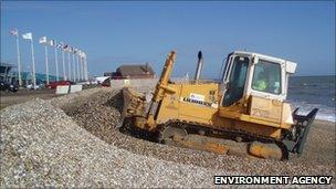 Working on Medmerry beach