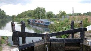 Lock gates on the River Lee
