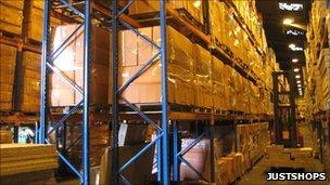 JustShops warehouse in Suffolk